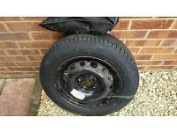 "14"" spare wheel and tool kit"