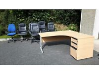Various Office Furniture including Lockable Cabinets, Desks, Pedestal and Filing Cabinets, Chairs