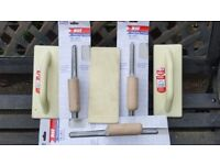 flooring trowel x3 and 3x poly floats new