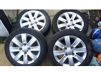 "4 x Mitsubishi Colt CZ 15"" Alloy wheels"