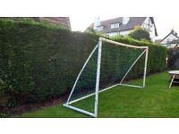 Football goal posts.