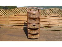 A set of 5 wicker drawers - suitable for bedroom or bathroom. A great way to store linen!!