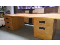 Desk - solid beach veneer. Cheap for quick sale.