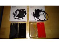 2 x Sony Xperia Z3 Compact (one black and one orange) - Unlocked in like new condition