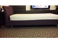 Single day bed base and mattrass immaculate condition. DISCOUNT!!! £50 for both.