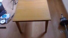 Small wooden table.