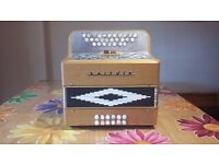 Hand made Melodeon made by Cairdin