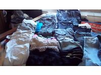 jeans, canvas trousers, , dress trousers, shorts , tops , jumpers , light jacket etc size 8-10 (Mix)