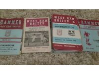 West Ham United programmes in good condition ranging from 1966 to 1978. I have 58 in total