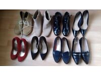 Bundle of 8 pairs of shoes and boots - sizes 3.5 to 6