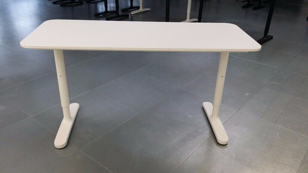 Ikea bekant electrically height adjustable desk frame galant a