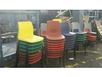 50 plastic chairs