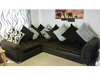 2 year old like new corner sofa. Chocolate brown, perfect condition, metal feet, extra seat padding