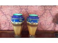 Pair of h&k tunstall desert scene vases