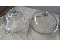 CAKE DOME AND CHEESE DISH GLASS WEDDING CELEBRATION