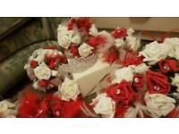 Bride bouquet and tiara