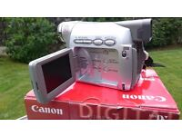 Canon MV800i Digital video camcorder, as new, spare battery and manual. Complete package. As new