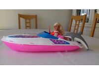 Baywatch Barbie with a Jeep and Speedboat set