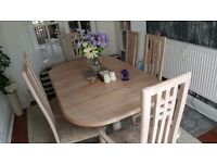 Limed Oak 6 seat dinning room table