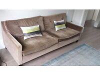 FREE Lovely Large Brown Velvet Sofa from Sofa Workshop