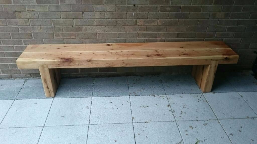 oak sleeper bench seat bench sleepers railway sleeper. Black Bedroom Furniture Sets. Home Design Ideas