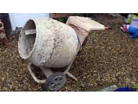 Belle Minimix 150 cement mixer with 110 power pack and stand