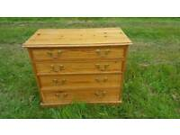 Solid pine cheast of drawers