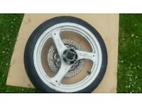 Suzuki motorcycle wheels with tyres