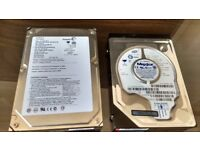 """Two IDE 3.5"""" hard drives: Seagate 160Gb and Maxtor 40 Gb"""