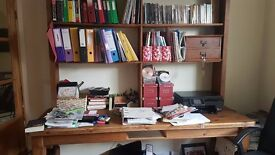 Pine Bookshelf/Table/work station