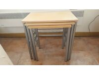 Nest tables in glasgow tableware for sale gumtree nest of tables beech watchthetrailerfo