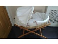Mamas & Papas Moses Basket (Stand Included)