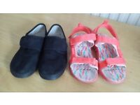 Shoes size 10 and sandals size 11