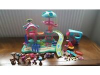 Littlest Pet Shop Playground Set with Rotating Treehouse and 15 Figures