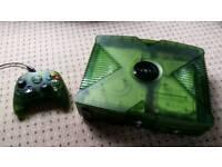 Xbox original 1Tb very rare translucent green version