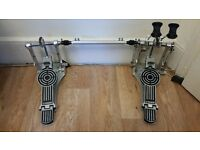Sonor Giant Step DP 472 R Double Bass Drum Pedal with Case - Excellent Condition