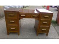 Cute and petite vintage knee hole dressing table