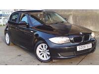 2008 08 BMW 116I ES BLACK 5DR MOT 01/18 (CHEAPER PART EX WELCOME)