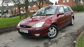 Ford focus 2002. 1.6cc . 5 doors. Service to 75000 miles