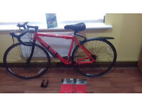 Carrera Road Bikes + New Halfords Rear High Mount 3 Cycle Carrier + New Helmet Rain Covers + More...