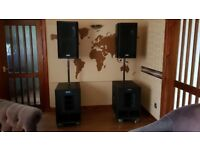 Top quality powerful 3K full-range PA system for DJ or band.