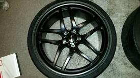 Inovit speed alloys 20x10 20x8.5 5x120 t5 transporter BMW