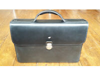 Mens Mandarina Duck Leather Briefcase/Satchel