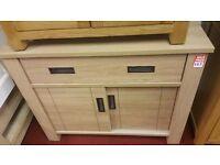 1 drawer 2 sliding door chest - light oak