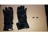 IXS Motorbike gloves (free Frank Thomas helmet!)