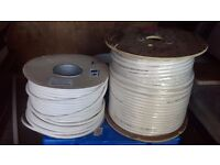 2.5mm and 1.5 mm 3 core electric flex white new 100 metres of each