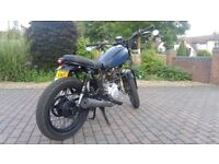 Yamaha SR125 Cafe Racer Project, NOT RUNNING, but an easy fix, 2 keys, MOT expires end on June