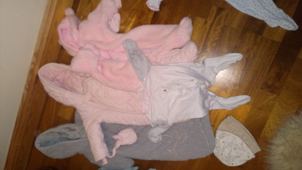 Baby Girl Clothes Bundle 0-3/3-6 months Knits/ Dresses/Sleepsuits Rocha/ Gro Company