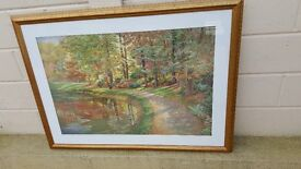 Lovely 'Barbara Hails' beautifully framed print in very good condition