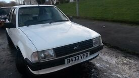 FORD ESCORT MK3 1984 GREAT CONDITION WITH ALLEY CAT ALLOYS READY TO USE NO RUST MOTED